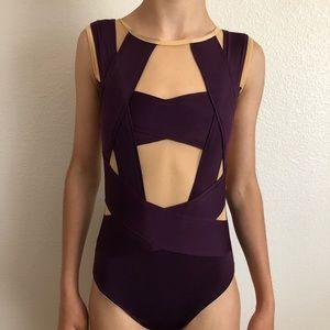 Other - Custom Purple and Nude Mesh Dance Leotard